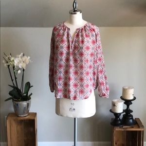 J Crew Patterned Blouse